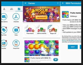 FITUR GAME BBM FOR ANDROID