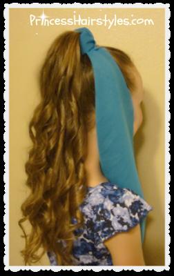 Genie hairstyle tutorial and DIY headpiece