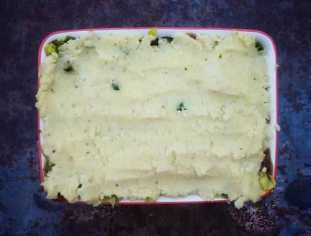 Step 9 - mashed potato layer