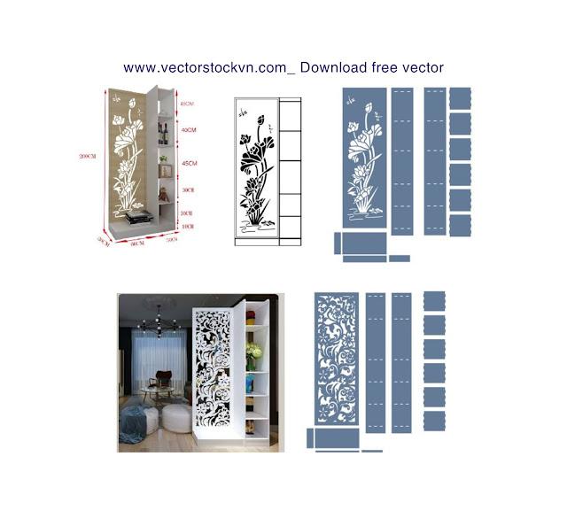 Vách ngăn Cánh cửa 3D CNC