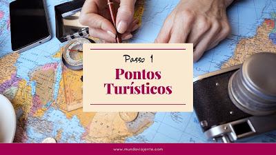 mapa mundi colorido escrito passo 1 roteiro de viagem