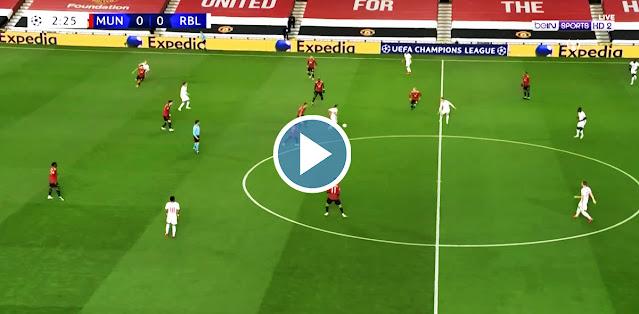 Manchester United vs RB Leipzig Live Score