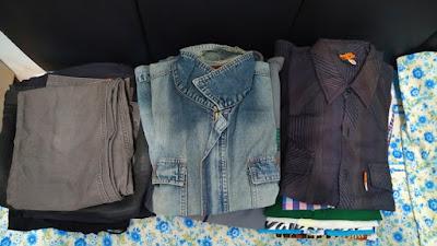 pakaian yang sudah disortir
