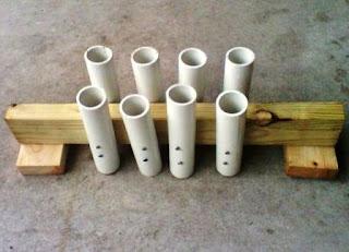 membuat Rak Pancing dari Pipa Pvc dan kayu bekas