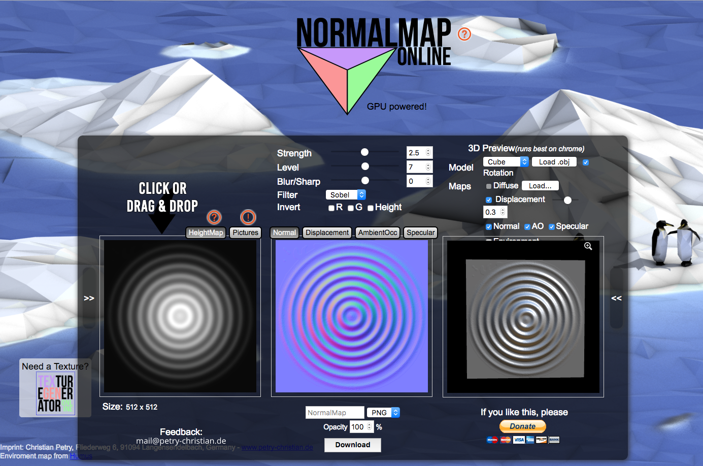 FREE ONLINE RESOURCE FOR CREATING NORMAL, SPECULAR, AO