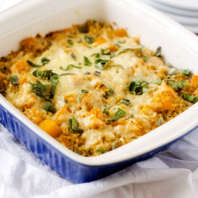 Butternut Squash Casserole With Quinoa