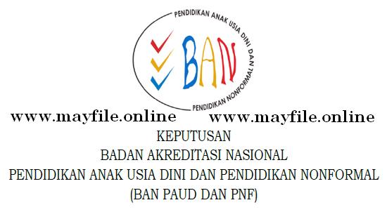 SK Akreditasi PAUD Dan PNF Pertanggal 3 Desember 2019