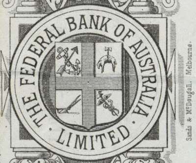 company seal on Federal Bank of Australia share certificate from the Museums Victoria Collections