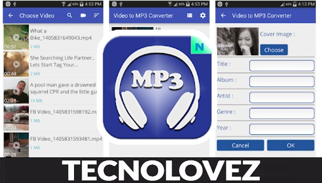 MP3 Tagger - Applicazione per convertire video in formato MP3 o AAC