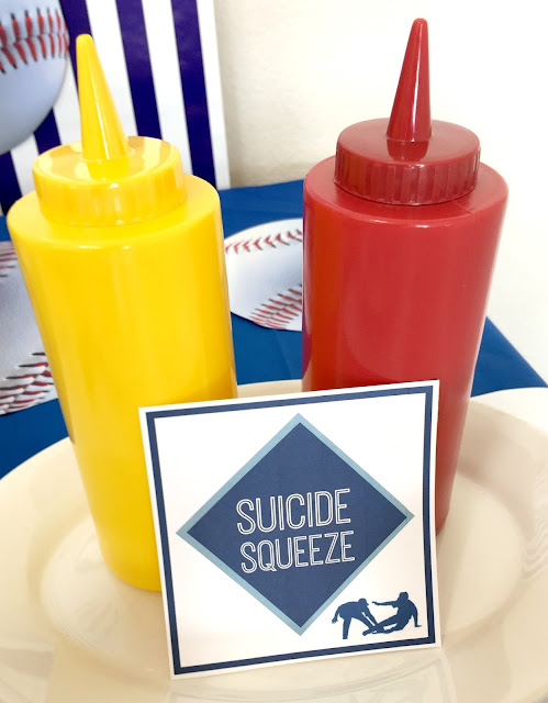 Baseball Party Foods- suicide squeeze