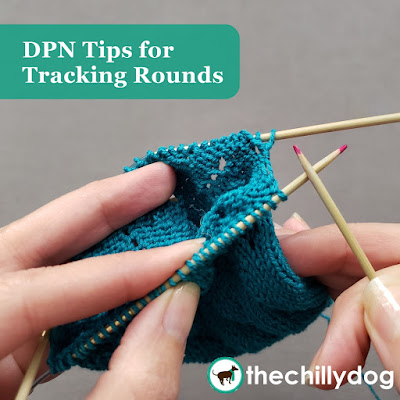 Knitting Tips and Tricks: an easy way to use your dpn tips to track rounds