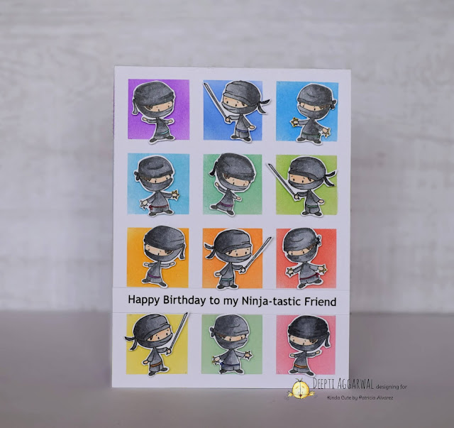 NInja Card using Kinda cute by patricia digital stamp