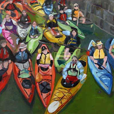 kayak-oil-painting-merrill-weber