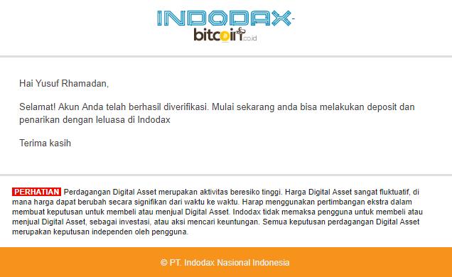 Tutorial Membuat Akun Indodax
