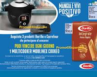 """Concorso Barilla """"Mangia e vivi positivo"""" : vinci ogni giorno 1 Multicooker Moulinex Cookeo"""