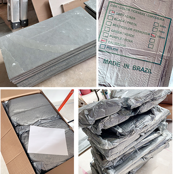 Brazilian slate tile very well packed