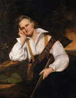 John James Audubon holding his most trusted field 'instrument' - a black-powder rifle. Painting: George P. A. Healy; Museum of Science, Boston
