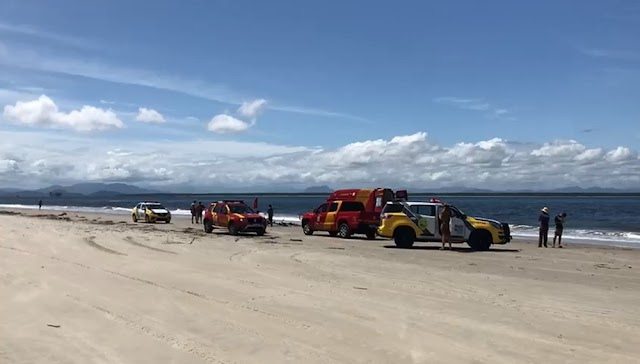 Idosa colombense morre afogada no mar em Pontal do Paraná, diz Corpo de Bombeiros