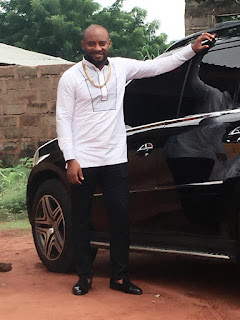 Yul Edochie and his mercedes Benz 2007 GL450 model
