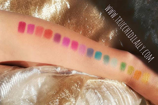 recensione palette coloratatissima Nyx