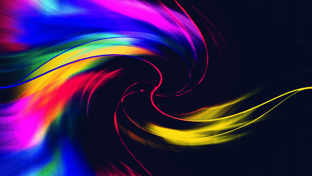 colorful_pink_yellow_blue_red_swirl_4k_hd_abstract