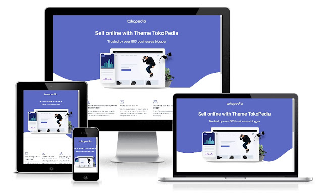 Tokopedia Landing Page Responsive Blogger Template