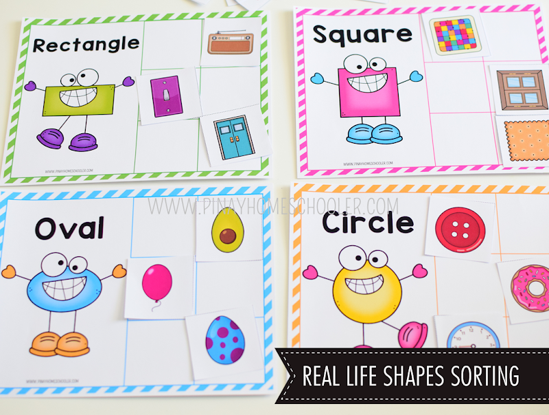 Kindergarten Math Shapes - Real Life Shapes Sorting Activity