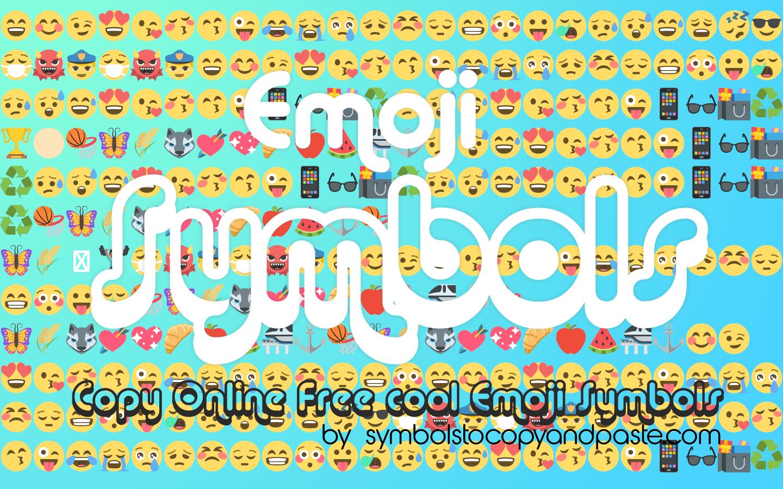 Emoji Symbols - Copy Cool Smiley, Food, Heart & Sports Emojis