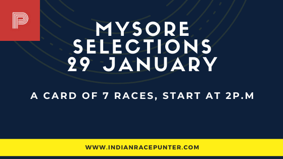 Mysore Race Selections 29 January, India Race Tips by indianracepunter
