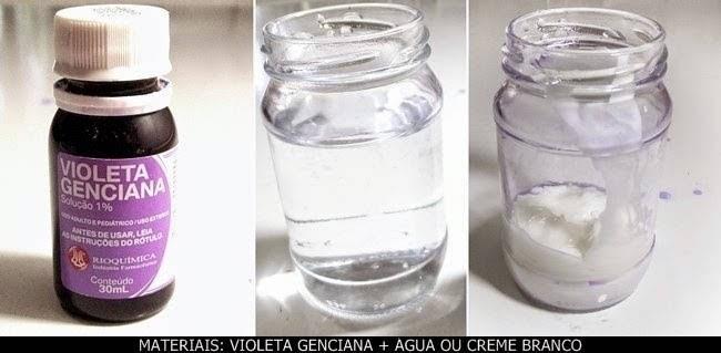 como tirar o álcool da violeta genciana