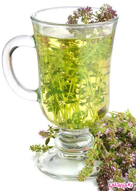 فوائد شاي و منقوع الزعتر