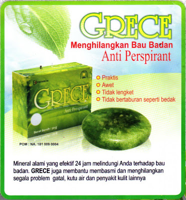 Grece Body Crystal Anti Perspirant Wanita Banjar