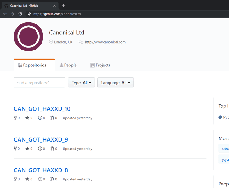 canonical ubuntu github hacked