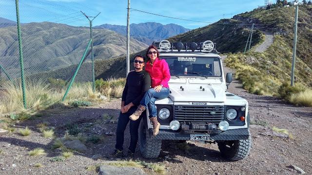 Montanha de salto de Parapente em Mendoza.