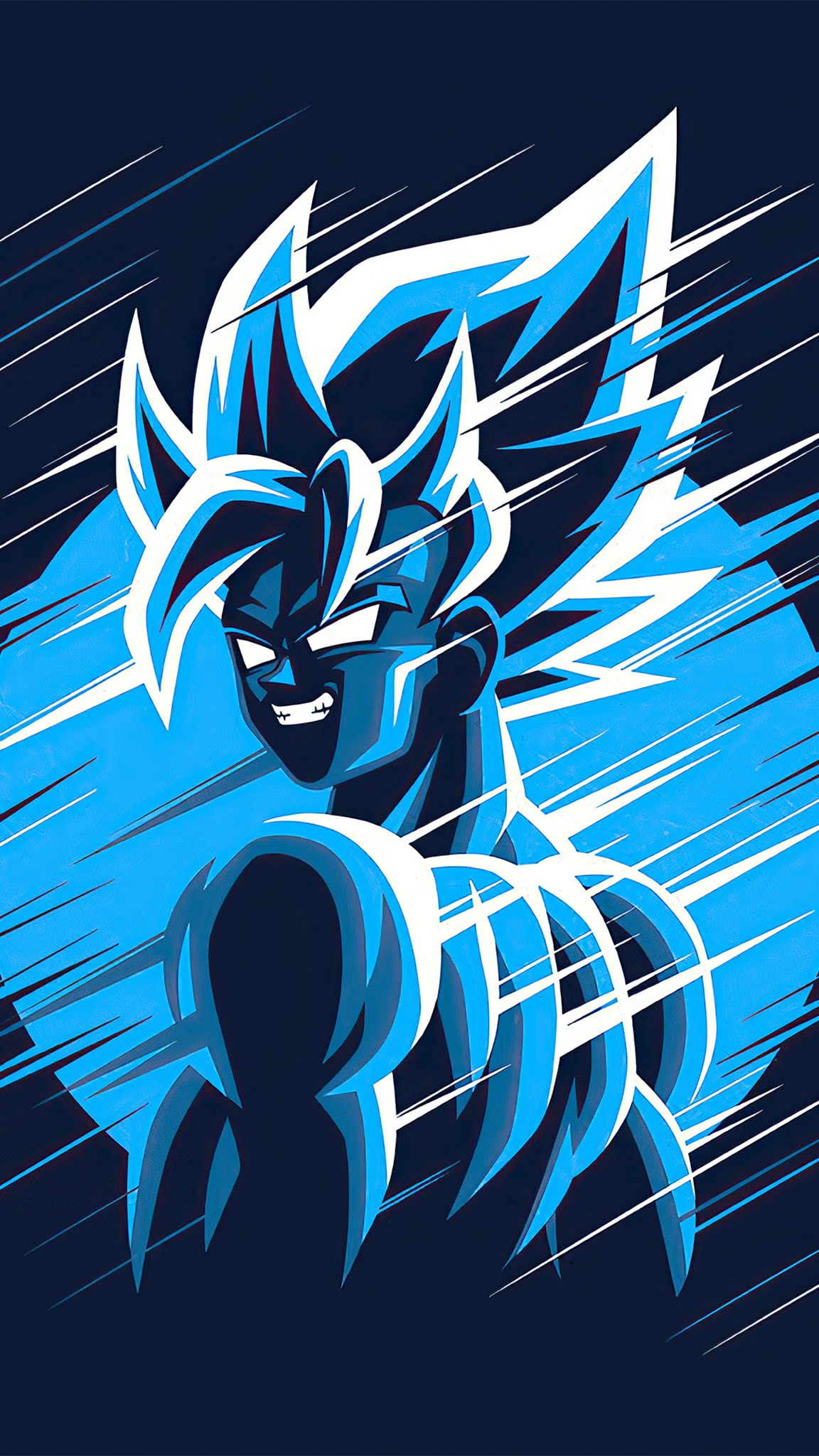 dragon ball z goku blue moon 4k mobile wallpaper
