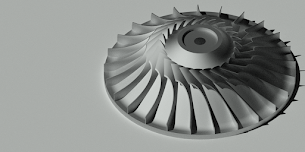 Membuat model compressor impeller di AutoCAD