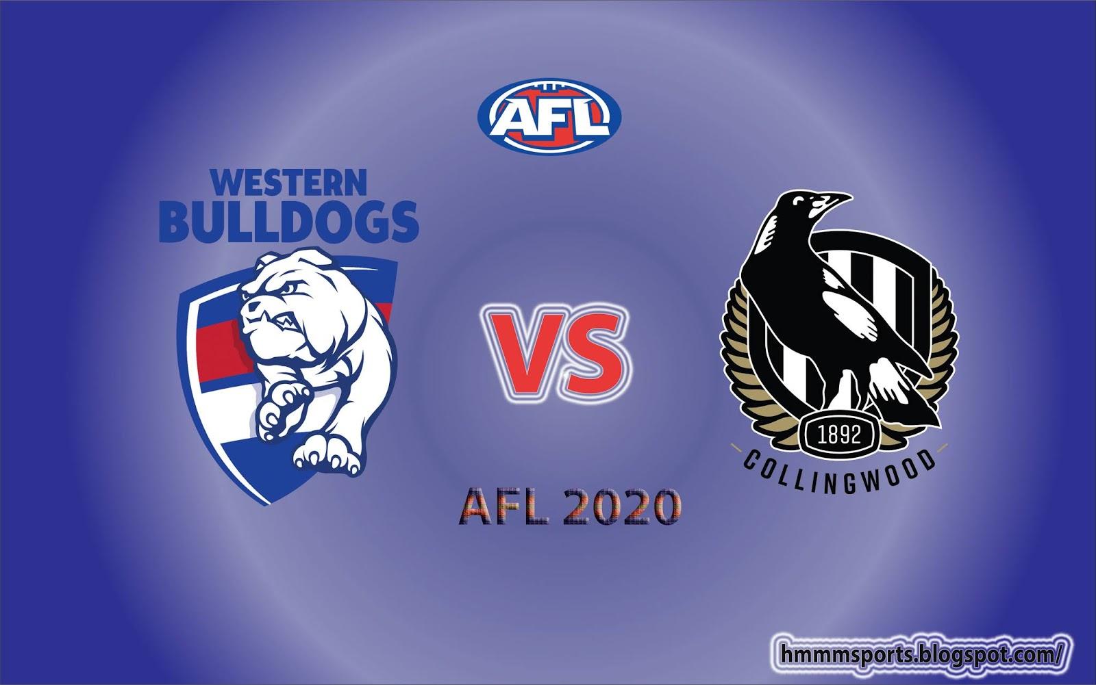 Western Bulldogs Vs Collingwood Preview Prediction Live Scores Afl 2020