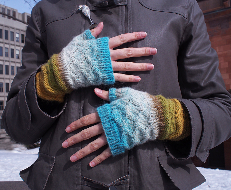 Noro mitts knit by Dayana Knits