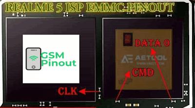 REALME 5 RMX1911 EMMC PINOUT/ISP PINOUT.
