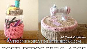 Costureros a Crochet Reciclados ♻️ Tutoriales en español