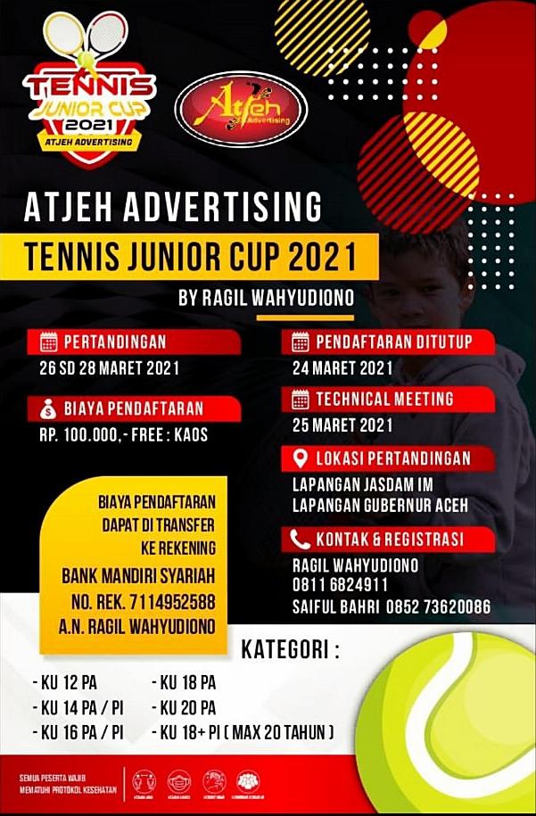 Kejuaraan Tenis: Atjeh Advertising Tennis Junior Cup 2021  By Ragil Wahyudiono