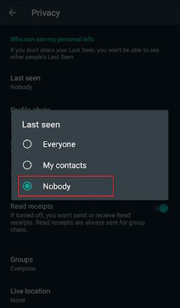 Cara agar whatsapp tidak terlihat online - 5