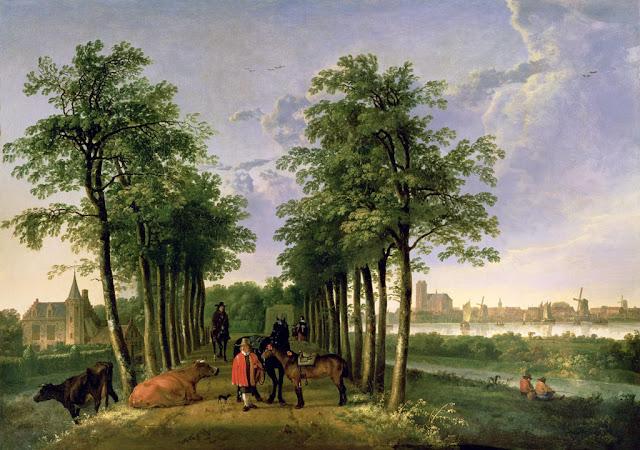 Альберт Кёйп - Аллея в Мердерворте. 1650-55