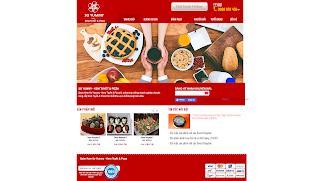 Mẫu Website tiệm bánh