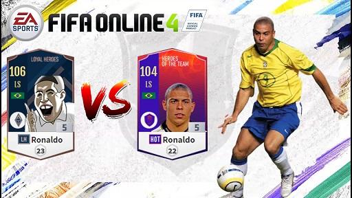 FIFA ONLINE 4 | Review so sánh Ronaldo Béo mùa LH VS HOT