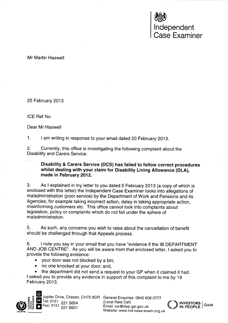A saint called allnights ice for veins at the dwp letter dated 25th february 2013 and yet in the same envelope cutting back on envelopes are we spiritdancerdesigns Choice Image