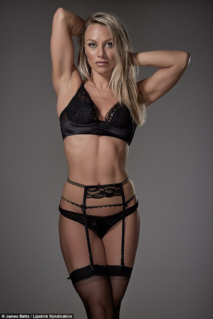 Chloe Madeley in a silk bra
