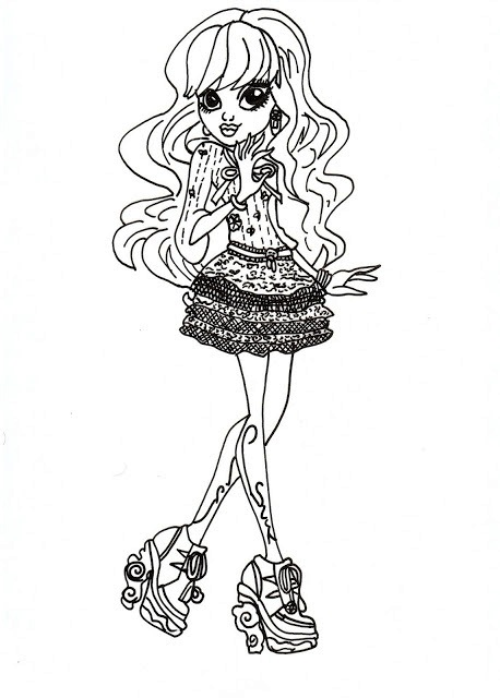 Monster High Coloring Pages 13 Wishes Twyla Coloring Page