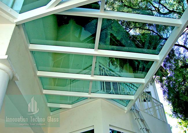 Kanopi Kaca Tempered Untuk Teras
