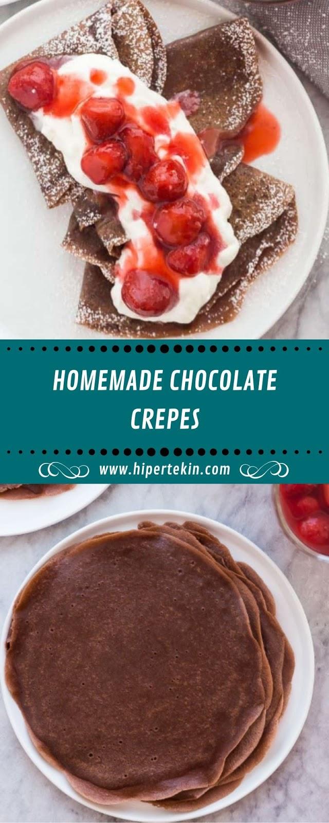 HOMEMADE CHOCOLATE CREPES